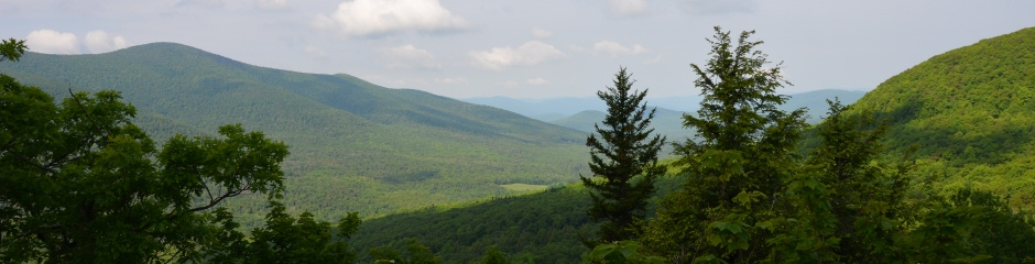 View of the Catskill Mountains in Greene County